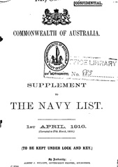Navy List Supplement for April 1916