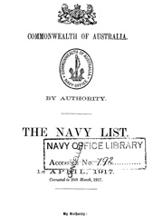 Navy List for April 1917