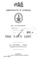 Navy List for April 1919