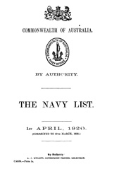 Navy List for April 1920