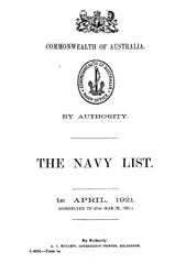 Navy List for April 1921