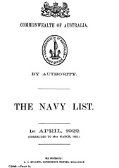 Navy List for April 1922