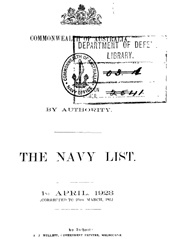 Navy List for April 1923