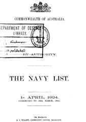 Navy List for April 1924