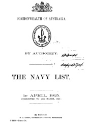 Navy List for April 1925
