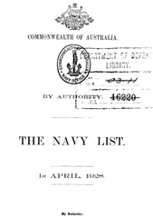 Navy List for April 1928