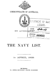 Navy List for April 1929