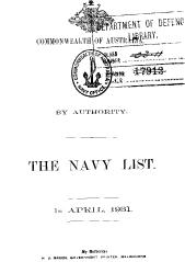 Navy List for April 1931