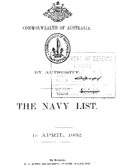 Navy List for April 1932