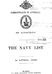 Navy List for April 1933