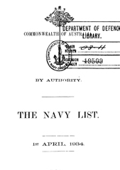 Navy List for April 1934