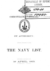 Navy List for April 1935