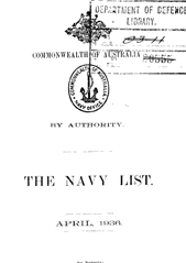 Navy List for April 1936