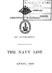 Navy List for April 1937