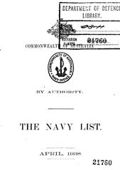 Navy List for April 1938