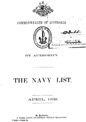 Navy List for April 1939