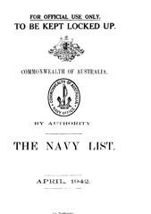Navy List for April 1942