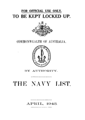 Navy List for April 1943