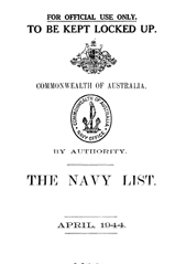 Navy List for April 1944
