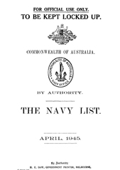Navy List for April 1945