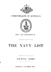 Navy List for April 1948
