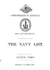 Navy List for April 1948