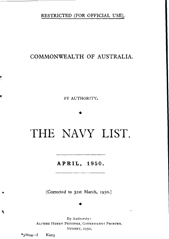 Navy List for April 1950