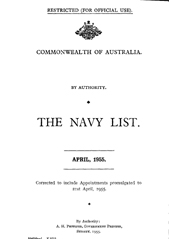 Navy List for April 1955
