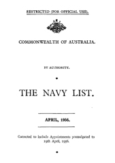Navy List for April 1956