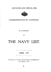 Navy List for April 1957