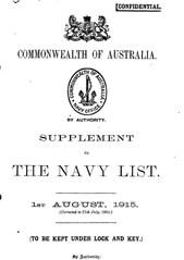Navy List for August 1915
