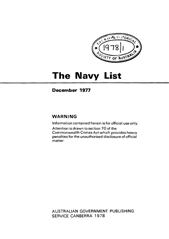 Navy List for December 1977