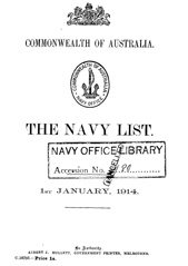 Navy List for January 1914