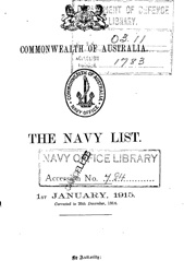 Navy List for January 1915