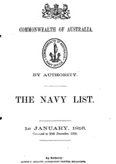 Navy List for January 1916
