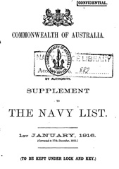 Navy List Supplement for January 1916