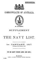 Navy List Supplement for January 1917