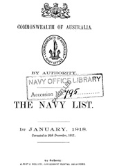 Navy List for January 1918