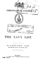 Navy List for January 1919