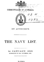 Navy List for January 1923