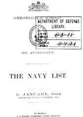 Navy List for January 1924