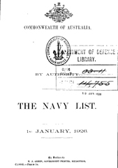 Navy List for January 1926