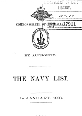 Navy List for January 1931