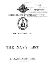 Navy List for January 1932