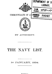 Navy List for January 1934