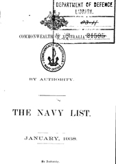 Navy List for January 1938
