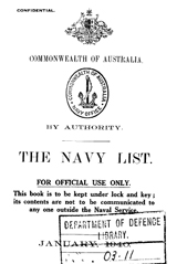 Navy List for January 1940