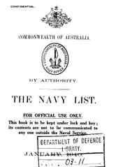 Navy List for January 1940
