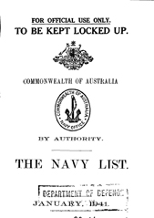 Navy List for January 1941