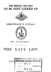Navy List for January 1942